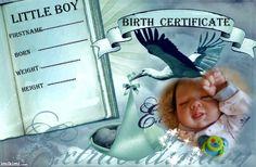 birth certificate (boy)alexander Birth Certificate, Reborn Dolls, Little Boys, Nursery, Baseball Cards, Children, Template, Infants, Toddlers