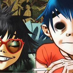 Noodle and 2-D- Gorillaz