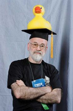 """You have to admire a man who will wear a duck on his head. Although he likely respond, when asked why, """"What duck?"""""""