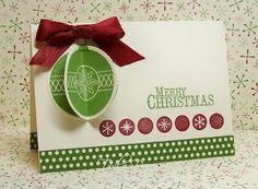 3-D ornament card