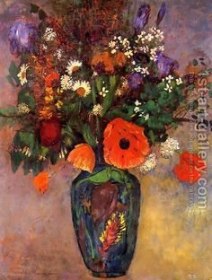 Odilon Redon:Bouquet Of Flowers In A Vase