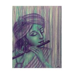 NOVICA Original Signed Painting of Krishna (885 SGD) ❤ liked on Polyvore featuring home, home decor, wall art, expressionist paintings, green, paintings, peacock feather wall art, green wall art, green home decor and novica paintings