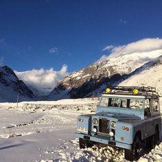 Land Rover 88 Serie II Sw safari top in WINTER