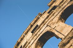 Free Image: Coliseum in Pula with Plane | Download more on picjumbo.com!