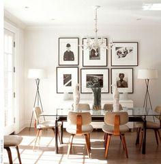 composición de marcos ribba con fotos en blanco y negro.