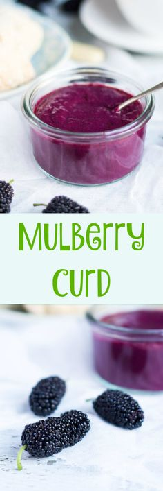 Mulberry Curd. Great for spreading on scones, filling crepes or swirling through yoghurt.