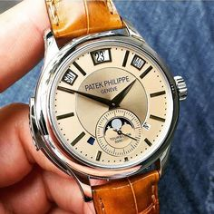 """@Regrann from @patekgallery - """"Grand Complications""""  Stunning Patek Philippe #grandcomplications #tourbillon minutesrepeater tripledate moonphase #perpetualcalendar leap-year sapphire crystal caseback Mechanical #manualwound movement Caliber R TO 27 PS QI in platinum case and alligator leather strap. Ref: #5207 P perfect pic by @goldentimeco #PG5207P  Use hashtag  #PatekGallery  ------------------------------------------------- #Regrann by iwan_kusumo"""