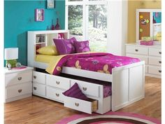 Shop For Oak Furniture West Twin Captain Bookcase Bed, SB 6840, And Other  Bedroom Beds At Bears Furniture In Franklin, PA. The Showtime Captain Boou2026