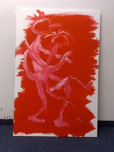Art Of Seduction, Stick Figures, Concept, Red, Painting, Red Color, Dancing, Basic Drawing, Painting Art
