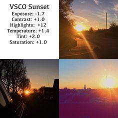 Great for bright sunsets or sunrises. Sunrise Photography, Photography Filters, Vsco Photography, Photography Lessons, Photography Editing, Vsco Filter Bright, Vsco Hacks, Vsco Themes, Photo Editing Vsco