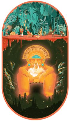 New trendy GIF/ Giphy. gold secret jungle cave treasure suprise digging inca godess. Let like/ repin/ follow @cutephonecases