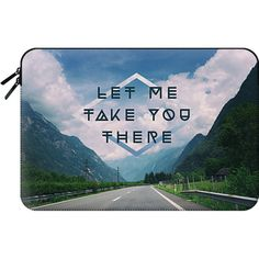 Macbook Sleeve - LET ME TAKE YOU THERE (1.710 UYU) ❤ liked on Polyvore featuring accessories, tech accessories and macbook sleeve
