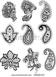 Find paisley stock images in HD and millions of other royalty-free stock photos, illustrations and vectors in the Shutterstock collection. Thousands of new, high-quality pictures added every day. Henna Finger Tattoo, Finger Tattoos, Paisley, Adobe Photoshop, Adobe Illustrator, Folk Embroidery, Embroidery Dress, Fresh Image, Abstract