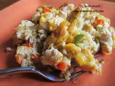 Cheesy Chicken, Rice & Peppers Skillet - po' man meals