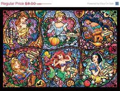 ON SALE Counted Cross Stitch Six princesses by lovemystitch