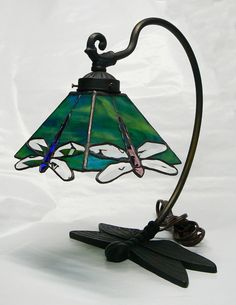 Unique Damselfly Lamp on a Dragonfly Base by jbls on Etsy, $325.00