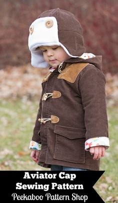 Aviator Cap PDF Sewing Pattern - Peekaboo Pattern Shop