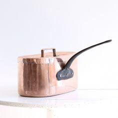 Vintage Copper Daubiere Pot - 850 E  https://thecooksatelier.com/the-french-larder/vintage/grande-copper-pot-