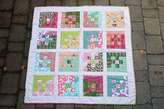 quilt design 9 patch baby quilt from Make Something Blog