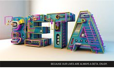 This project is a freestyle study that i have done when I was studing light, render and modeling in modo. 3d Design, Event Design, Icon Design, Graphic Design, 3d Letters, Letter Art, 3d Typography, Lettering, Care Bear Tattoos