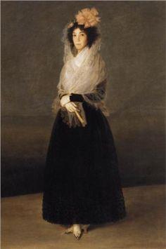 Retrato de la condesa del Carpio, marquesa de la Solana  - Francisco de Goya