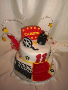 Hollywood Movie Theme Cake   Like the Fan Page: http://www.facebook.com/sweetbudsbakeryfans