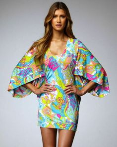 8cd3cc3bc332 TRINA TURK - Turquoise Tangier Tunic Kimono Swim Dress Coverup  RARE  M NWT   144