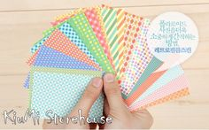 Korean LKF Polaroid Instax Mini Film Skin Stickers - Retro Color (20 Sheets) (Diary / Present / Album / Gift Wrapping / Agenda Decor ). $1.79, via Etsy.