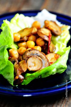 Mushroom Lettuce Wraps Recipe - Cooking | Add a Pinch | Robyn Stone
