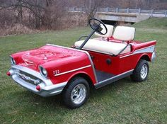 Let's roll over to the malt shop at the golf country club in our 57 Chevy golf cart. Go Daddy O!