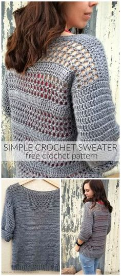 03032327d 11 Best free crochet sweater patterns images in 2019