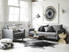 Molmic new Access range of sofas. A monochromatic scheme is used to create a sophisticated look.