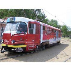 #реклама #трамвай #оклейка #широкоформатная #печать #Одесса Наши работы - реклама на трамвае