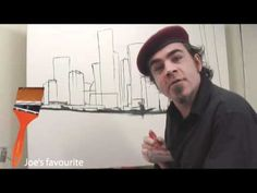 How to Paint a City in Acrylic Paint I'm going to try this with downtown Houston with a canvas Stephen gave me for Christmas! (I think I am now anyway!)