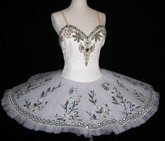 Tutú de ballet tutú profesional blanco hermoso