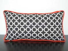 Black and white throw pillow cover geometric lumbar by anitascasa