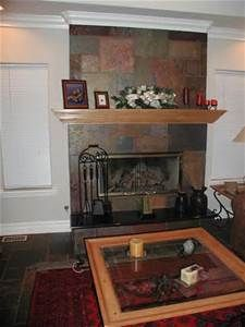 slate fireplace designs The Slate Stone Fireplace