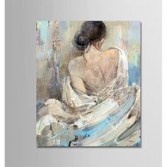 Naked Hand-Painted Modern Oil Painting On Canvas Wall Art Picture For Home Decoration Ready To Hang - Malerei Modern Oil Painting, Oil Painting On Canvas, Painting Art, Hand Painted Canvas, Canvas Wall Art, Big Little Canvas, Images D'art, Wall Art Pictures, Your Paintings