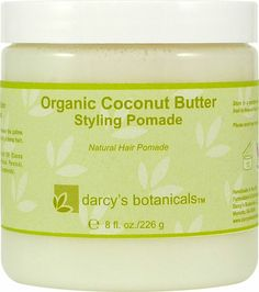 Darcy's Botanicals Organic Coconut Butter Styling Pomade - NaturallyCurly