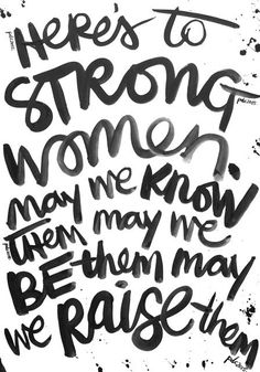 Weekly Brush Script | Here's to strong women. by PolkaDotCreative at @studio_calico