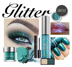 """glitter"" by adelinaaaa ❤ liked on Polyvore featuring beauty, Stila, Urban Decay, Kevyn Aucoin, Lancôme, Blend Minerals and Chanel"