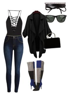 """""""Untitled #137"""" by kduffy-1 on Polyvore featuring Topshop, Ashley Stewart, Boohoo, Fallon and Ray-Ban"""