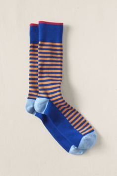 Men's Striped Socks  from Lands' End Canvas