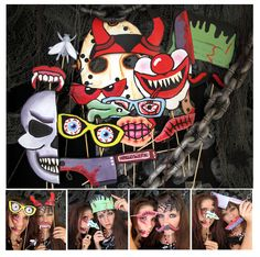scary Halloween photo booth props - perfect for your Halloween bash or your creepy party. $14.99, via Etsy.
