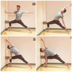 Yoga will wall and block. Place yoga mat next to wall for great warrior warrior reverse warrior, and extended side angle alignment Kundalini Yoga, Yin Yoga, Yoga Meditation, Yoga Fitness, Pilates, Wall Yoga, Yoga Training, Muscle Training, Hiit