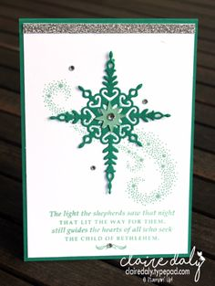 Stampin' Up! Star of Light 2016 Christmas card - Stampin' Up! Australia: Claire Daly Independent Demonstrator Melbourne