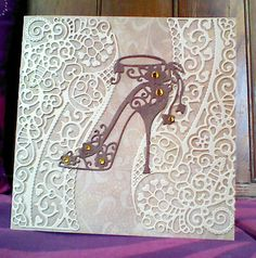 Shoe card using Tattered lace dies.