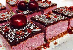 Raw vegan cherry ripe slice