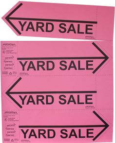 Affordable Arrow Shaped Tear Away Signs