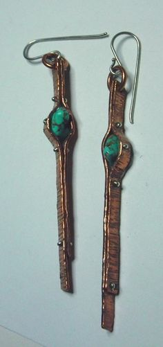 BRONZE AGE  earrings by UGLYGOLD to order by UGLYGOLD on Etsy, $35.00